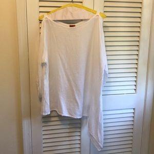 Oh My Gauze! white open sleeved shirt